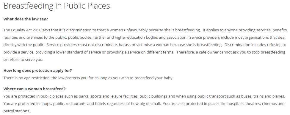 breastfeeding public places