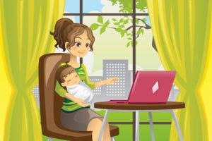 mama laptop bebelus
