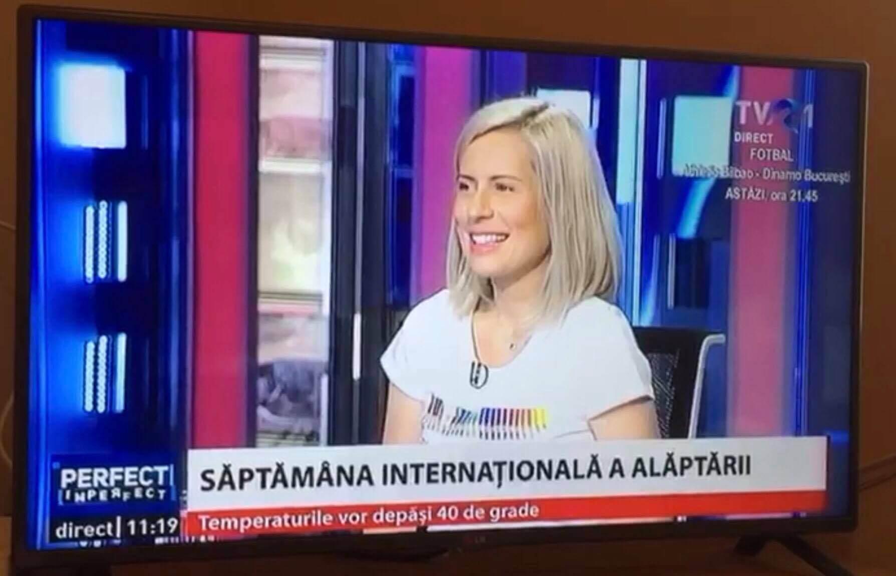 Miruna Ioani - Sustine alaptatul in public la TVR1